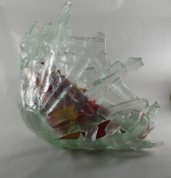 fused glass bowl 002-05