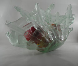 fused glass bowl 002-11