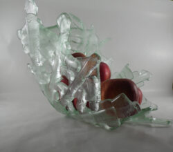 fused glass bowl 002-12