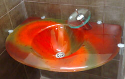 fused glass sink 001-03