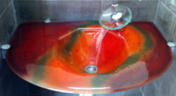 fused glass sink 002-03