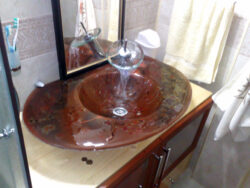 fused glass sink 012-01