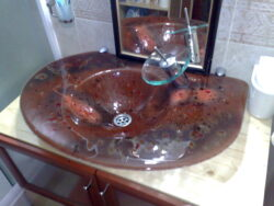 fused glass sink 012-02